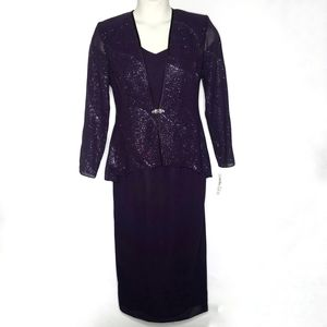 R&M Collection Two Piece Dress 10 Formal Occasion